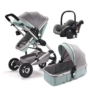 Baby Stroller 3 in 1 High Landscape Pram foldable pushchair bassinet Car Seat