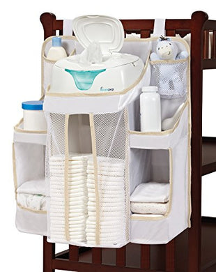 Nursery Organizer and Baby Diaper  | Hanging Diaper Organization Storage for Baby Essentials | Hang on Crib, Changing Table or Wall