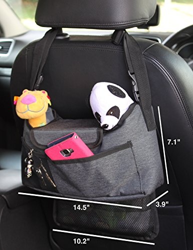 Best universal stroller organizer grey diaper bag + cup holder for cool parents