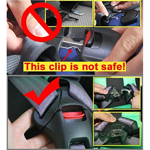 Universal Baby Car Seat Stroller Pushchair 5PT 5 Point Safety Harness Locking Buckle Clip