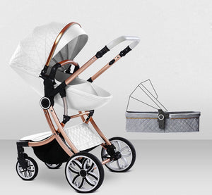 Baby Stroller 2 in 1 With Sleeping Basket Baby Carriage Travel System Pram