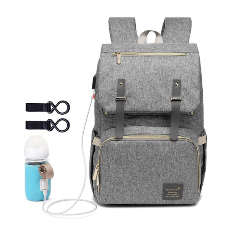 Diaper Bag Backpack For Mom With USB Port With Stroller Hooks