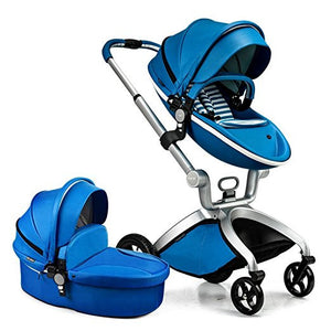 Hot Mom Brand Leather Baby Stroller travel system and Bassinet Combo