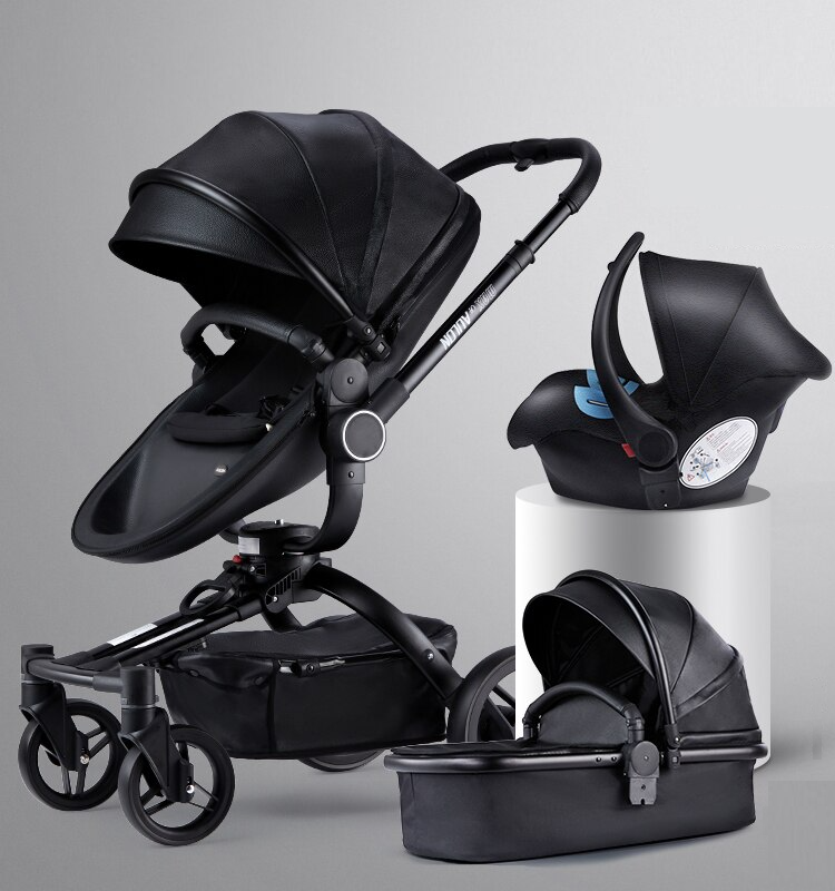 Aulon Brand Baby Stroller 3 in 1 With Car Seat High View Pram For Newborns Folding 360 Degree Rotation