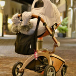 Hot Mom F023 /f22 Stroller Accessories Winter Outkit With Footmuff And Winter Gloves Thickened Canopy