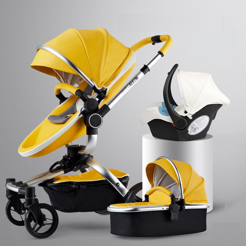 2019 Maxo Of Aulon Brand Baby Stroller 3 in 1 With Car Seat High View Pram For Newborns Folding 360 Degree Rotation