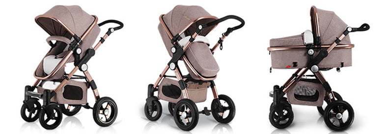 Baby Stroller 3 In 1 With Car Safety Seat Baby Carriage