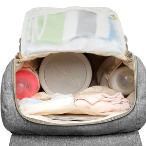Diaper Bag Backpack For Mom With USB Port
