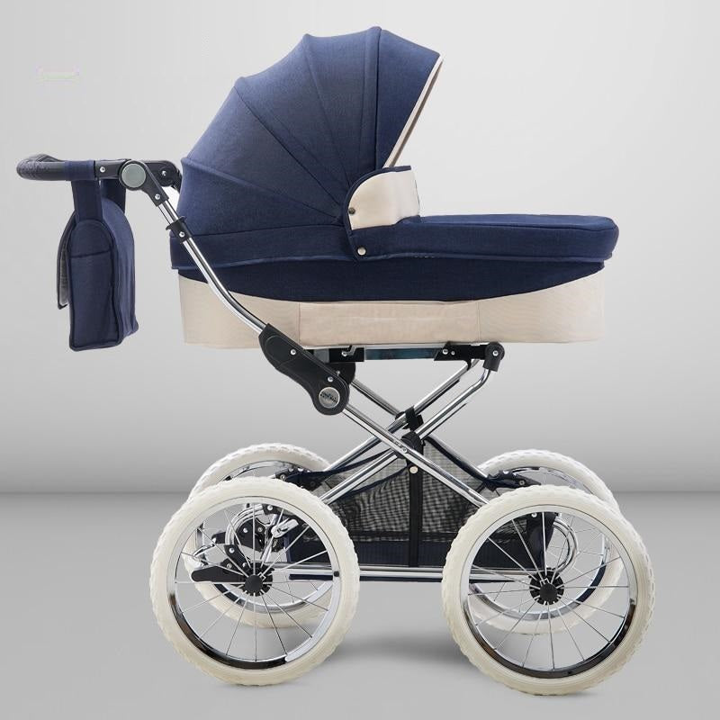 Two Way European Baby Stroller Luxury High Profile Trolley Baby Carriage