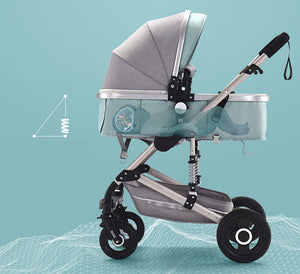 3 In 1 Baby Stroller For Newborns High Landscape Travel System Baby Carriage With Car Seat Folding Prams For Children