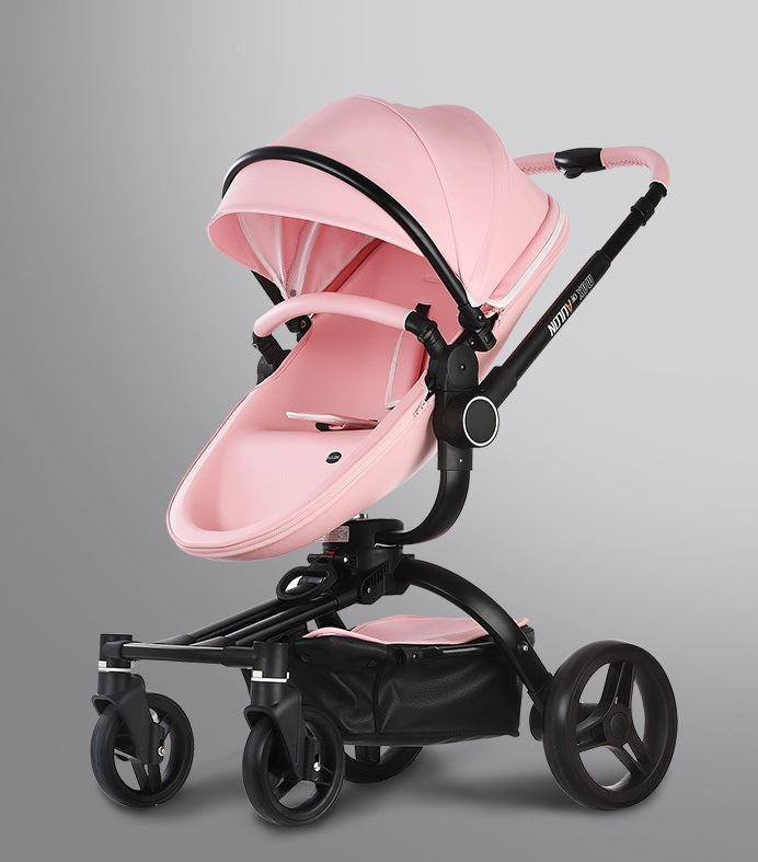2019 Design Luxury Leather Max Of Aulon Brand Baby Stroller High Landscape Baby Carriage