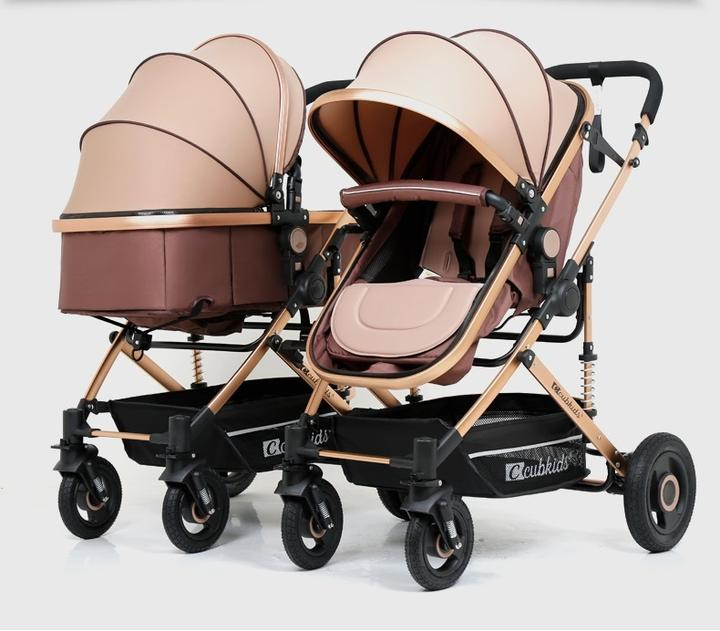 CubKids Brand Twin Baby Stroller Easy Folding Light Weight Double