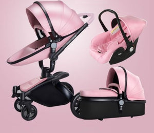 Aulon Brand Luxury Pink Stroller For Girls Full Set Travel System Bass T A Y Online Store