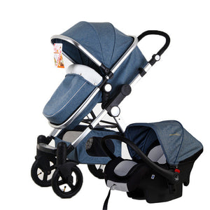 Baby Stroller 3 in 1 with Car Safety Seat,Baby Carriage Prams European Strollers