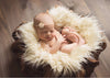 Baby Swaddle Blanket Faux Fur Soft Blanket Fur Wool Mat Background