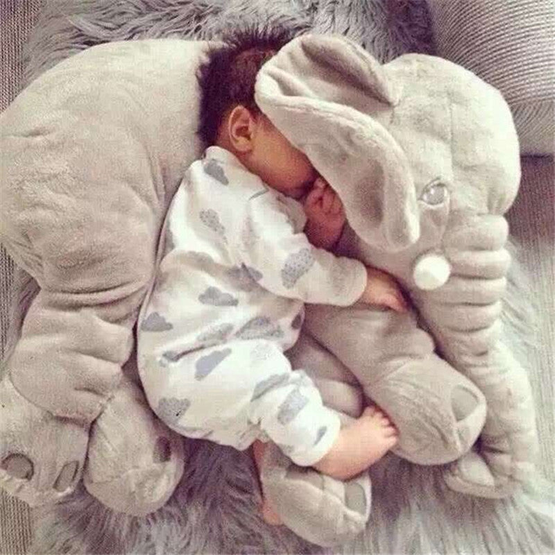 Elephant Soft Appease Baby Pillow Baby Calm Doll Baby Toys Baby Sleep Bed