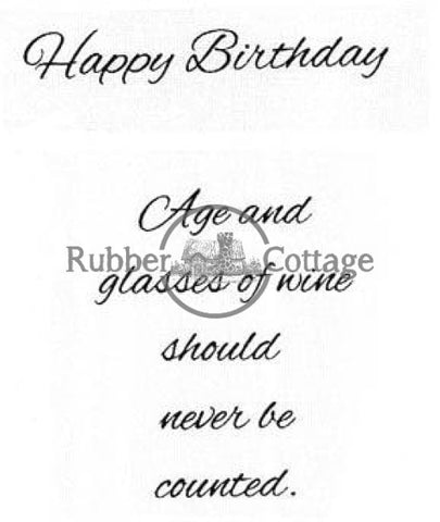 Age And Wine Rubber Stamp