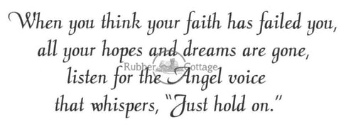 Angel Voice Rubber Stamp