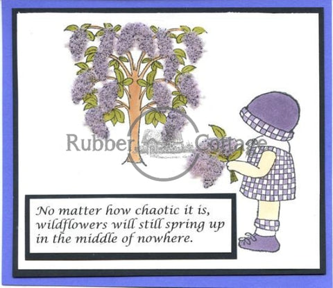 Annies Fresh Flowers Rubber Stamp