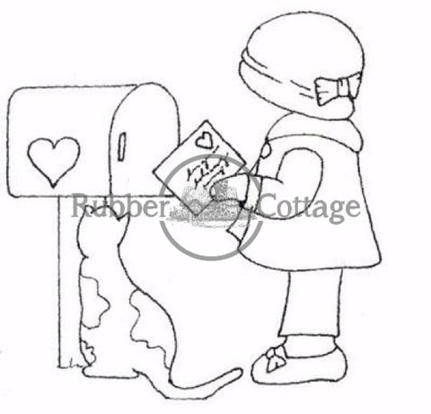 Annies Love Letter Rubber Stamp