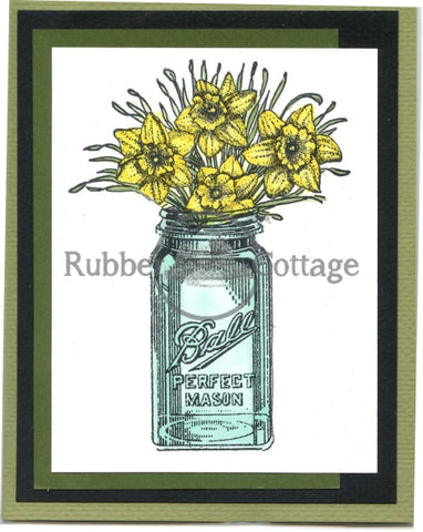 Ball Jar Rubber Stamp