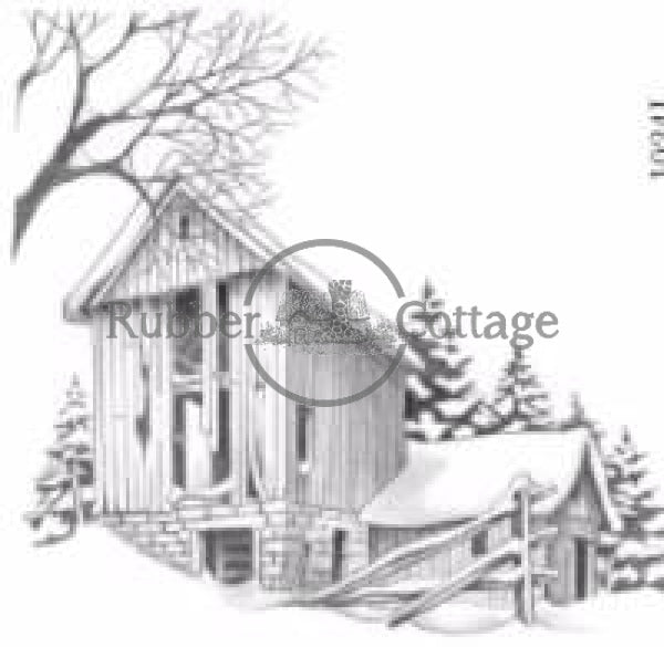 Barn #5 Rubber Stamp