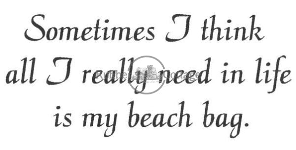 Beach Bag Rubber Stamp