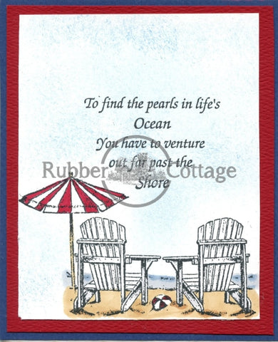 Beach For Two Rubber Stamp