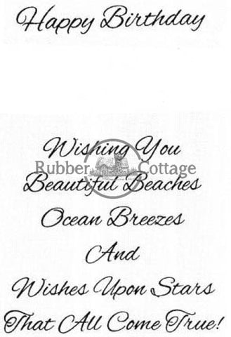 Beautiful Beaches Rubber Stamp