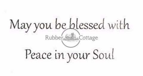 Blessed With Peace Rubber Stamp