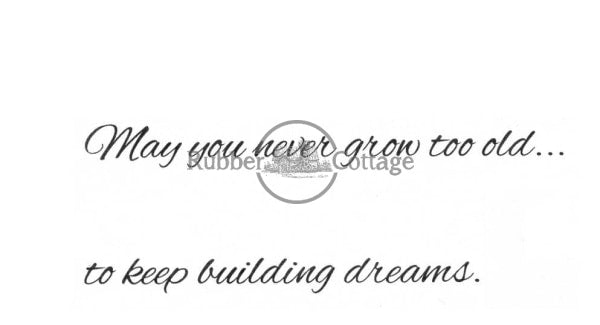 Building Dreams Rubber Stamp