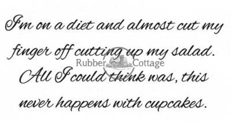 Diet Rubber Stamp
