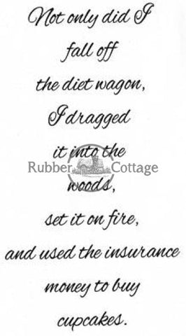 Diet Wagon Rubber Stamp