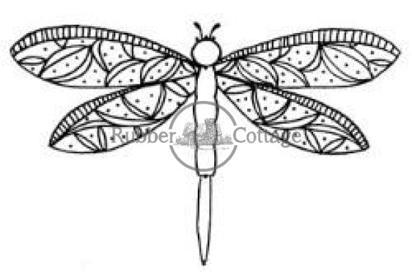 Dragonfly 1 Rubber Stamp