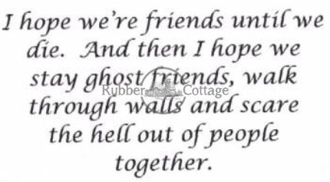 Ghost Friends Rubber Stamp