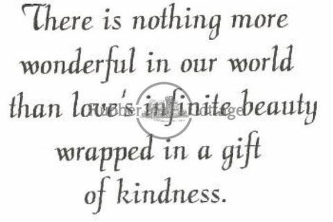 Gift Of Kindness Rubber Stamp