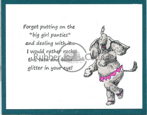Glitter Rubber Stamp