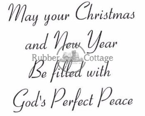 Gods Perfect Peace Rubber Stamp