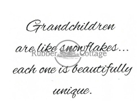 Grandchildren 2 Rubber Stamp