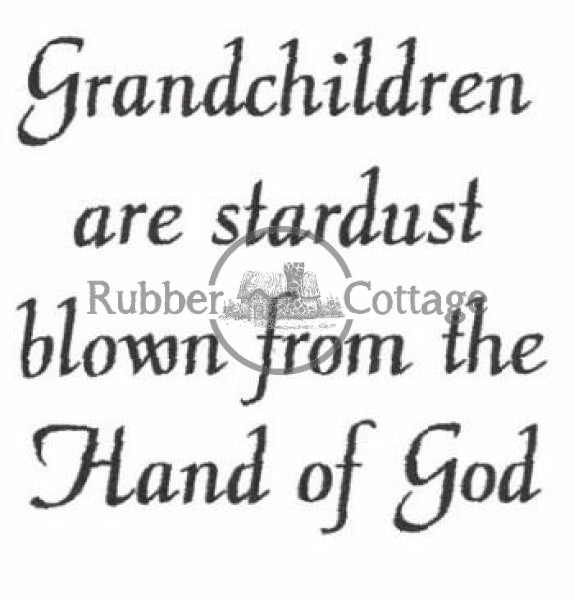 Grandchildren Rubber Stamp