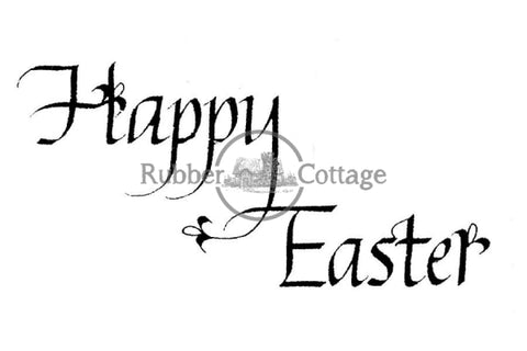 Happy Easter Small Rubber Stamp