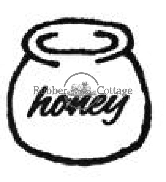 Honey Pot Rubber Stamp