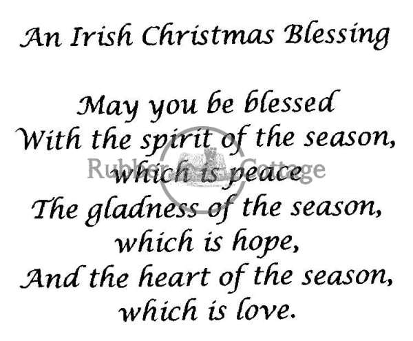 Irish Christmas Blessing Rubber Stamp