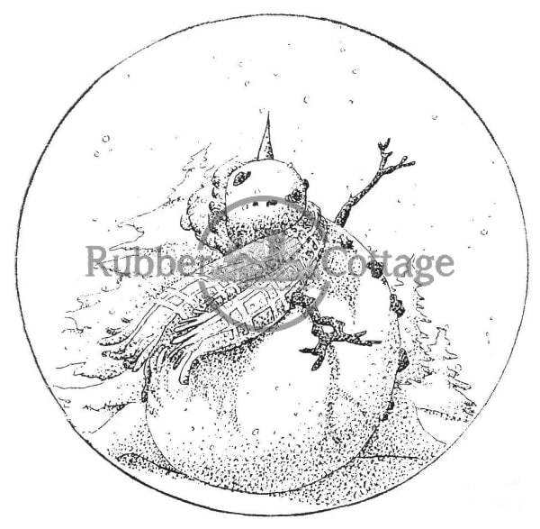 Let It Snow Globe Rubber Stamp