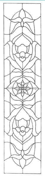 Long Stained Glass Rubber Stamp