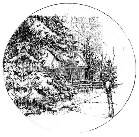 Look Of Winter Snow Globe Rubber Stamp