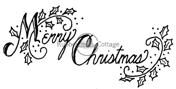 Merry Christmas Bb Rubber Stamp
