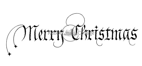 Merry Christmas Sm. Rubber Stamp