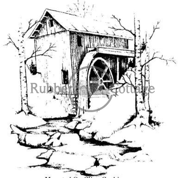 Mill 1 Rubber Stamp