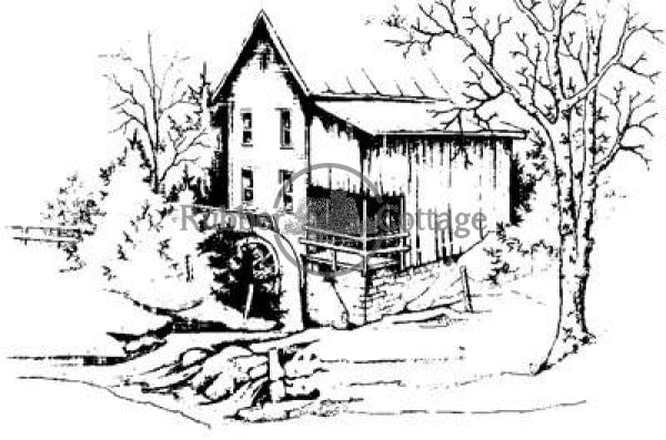 Mill 2 Rubber Stamp